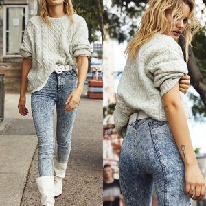 New Free People Riley Seamed Skinny Jeans